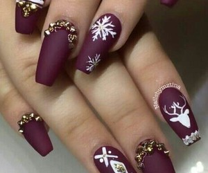 christmas, winter nails, and snow image