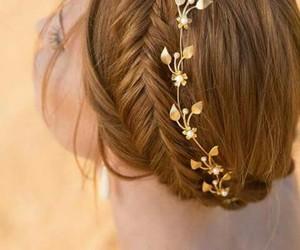 braid, style, and crownbraid image