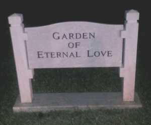 cemetery, garden, and love image