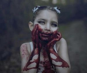 blood, girl, and creepy image