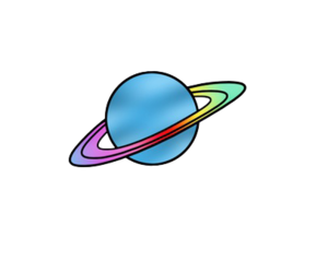 overlay, png, and saturn image