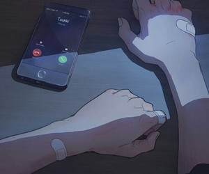 anime, phone, and yaoi image