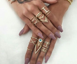 fashion, gold, and tattoo image