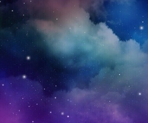 aesthetic, stars, and clouds image