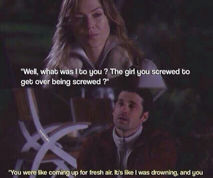 meredith grey, grey's anatomy, and derek shepherd image