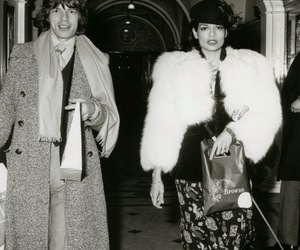 mick jagger, bianca jagger, and couple image