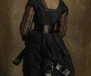 art, black, and dress image