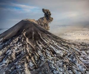 iceland, snow, and volcano image