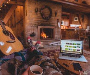 christmas, home, and fire image
