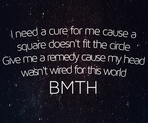 bmth, cure, and quote image