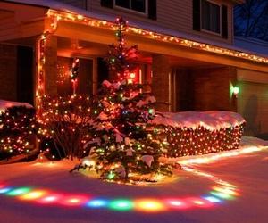 christmas, december, and lights image
