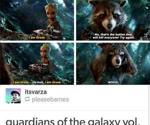 Marvel, funny, and groot image