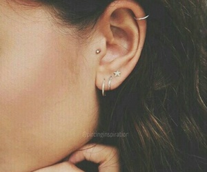 earring, vogue, and piercing image