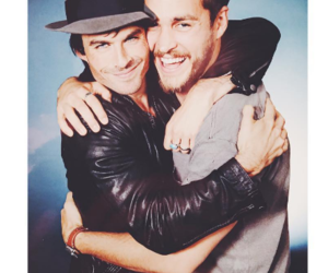 ian somerhalder, chris wood, and tvd image