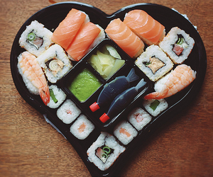 fish, heart, and food image