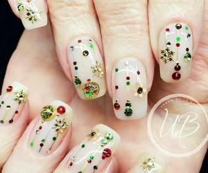 christmas, christmas nails, and nails image