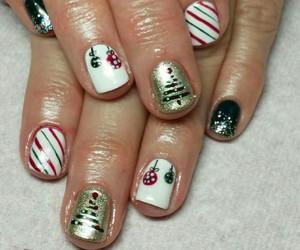 christmas, christmas tree, and nails image