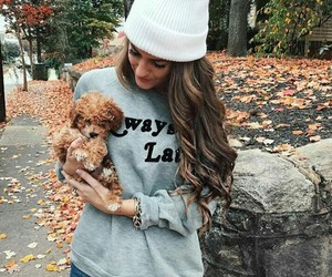 fashion, autumn, and dog image