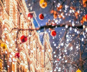 lights, new year, and winter image