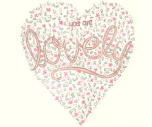 lovely, heart, and flowers image