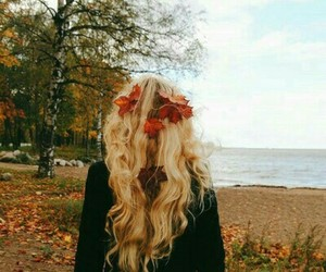 blond, flower, and hair image