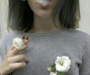 flowers, smoke, and grunge image
