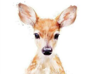 art, animal, and deer image