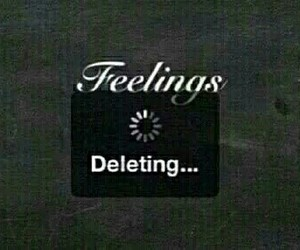 feelings, delete, and sad image