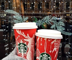christmas, starbucks, and winter image