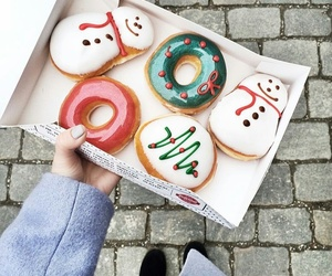donuts, food, and christmas image