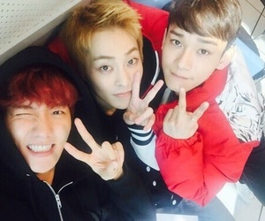 sehun, suho, and Chen image