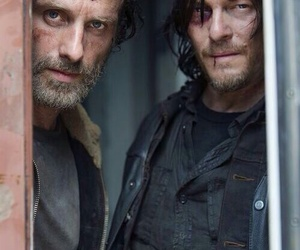 the walking dead, daryl dixon, and rick grimes image