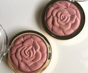 makeup, rose, and blush image