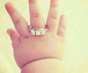 baby, cute, and ring image