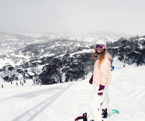 snow, snowboarding, and winter image