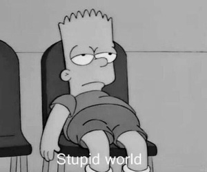 stupid, world, and bart image