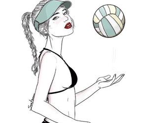 ball, draw, and hair image