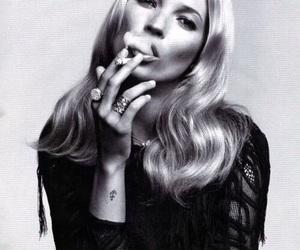 kate moss, model, and smoke image