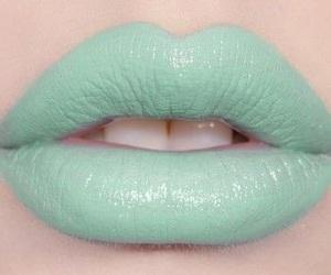 lips, mint, and lipstick image