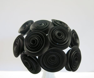 etsy, paper flowers, and black wedding image