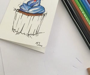 birthday, cupcake, and drawing image