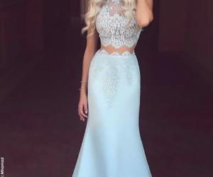 azul, dress, and blue image