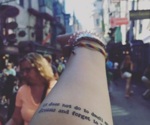 dumbledore, harry potter, and tattoo image