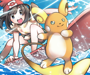 pokemon, raichu, and alola form image