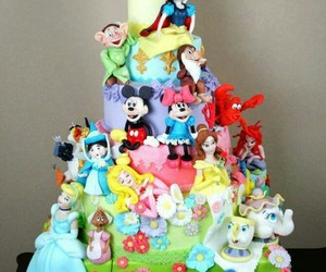 cake, disney, and cinderella image