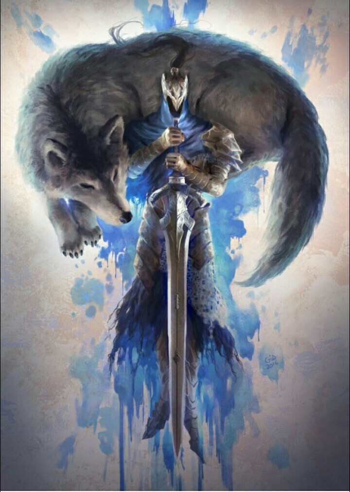 Artorias And Sif Uploaded By Dont Panic On We Heart It