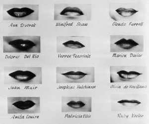 celebrities, lips, and golden age image