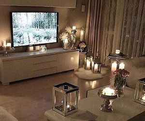 decor, candles, and living room image