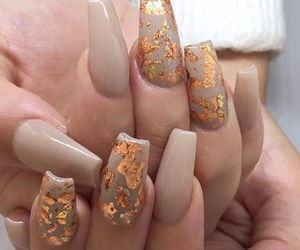 flawless, nails, and gold image