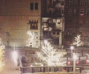 christmas, downtown, and fire escape image